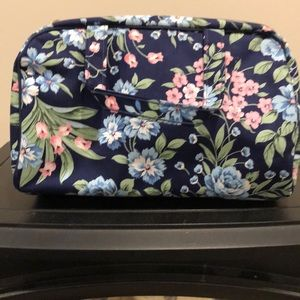 Handbags - Blue floral cosmetic bag